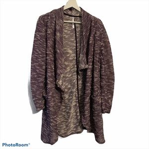 Fabletics Moscow wrap duster cardigan M knit open
